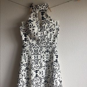 my michelle | black and white paisley dress